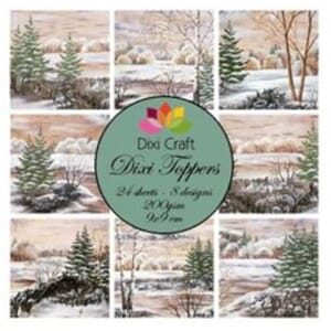 Dixi Craft Dixi Toppers Winter Trees, str 9x9 cm