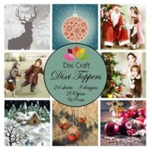 Dixi Craft Dixi Toppers Winter Christmas, str 9x9 cm