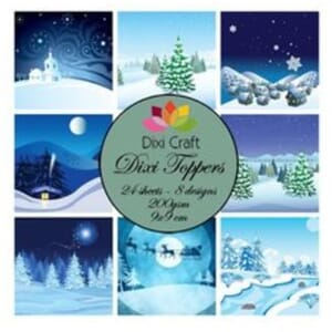 Dixi Craft Dixi Toppers Winter Snow Scene, str 9x9 cm
