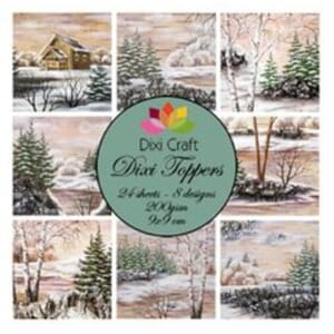 Dixi Craft Dixi Toppers Winter Lake,  str 9x9 cm