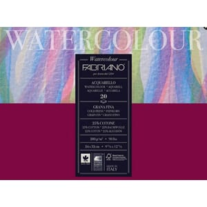 FABRIANO Acquarello Watercolour paper, 8x8, 20 ark