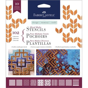 FaberCastell: Graphics - Mixed Media Stencils 10/Pkg