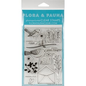 Flora & Fauna: Aviary Love Clear Stamps, 4x6 inch