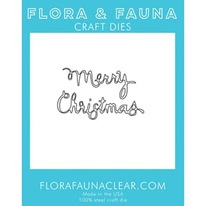 Flora & Fauna: Merry Christmas Curly Stacked Dies