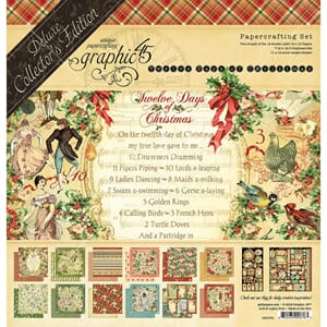 Graphic 45: 12 Days Of Christmas Collection Pack, 12x12 inc