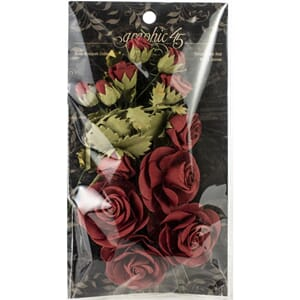 Graphic 45: Triumphant Red Flowers, 15/Pkg