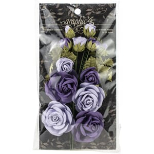 Graphic 45: French Lilac & Purple Royalty Rose Bouquet Colle
