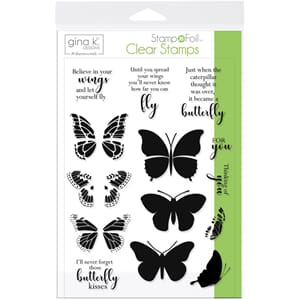 Gina K Designs: Butterfly Kisses Clear Stamps