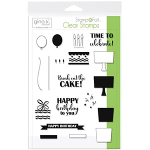 Gina K Designs: Time To Celebrate Clear Stamps