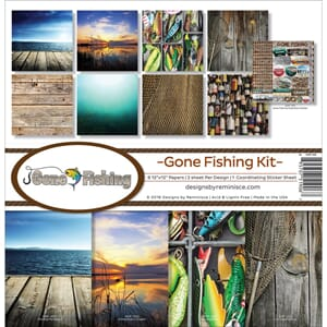 Reminisce: Gone Fishing Collection Kit, 12x12 inch