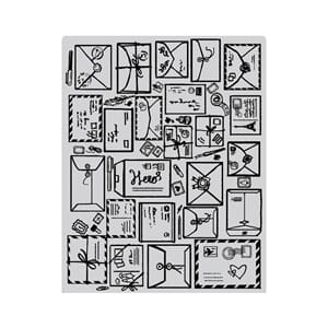 Hero Arts: Mail Jumble Background Cling stamp