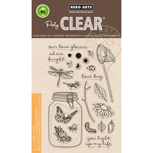 Hero Arts: Mason Jar Bugs Clear Stamps 4x6