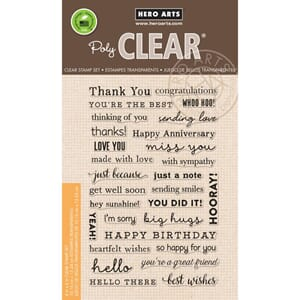 Hero Arts: Many Everyday Messages Clear Stamps 4x6