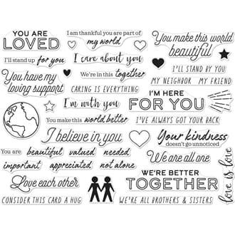 Hero Arts: You Are Loved Clear stamps