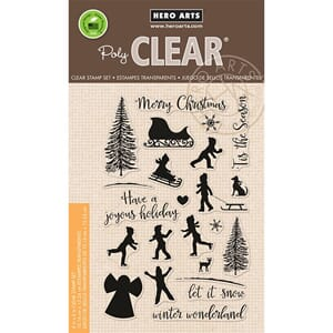 Hero Arts: Winter Silhouettes - Clear Stamps, 4x6