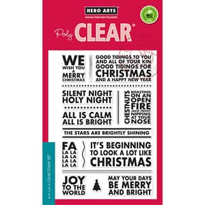 Hero Arts: Poster Christmas Carols - Clear Stamps, 4x6