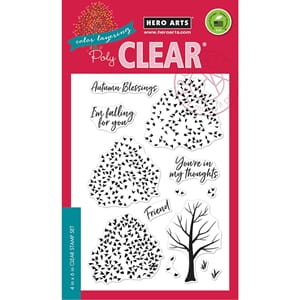 Hero Arts: Color Layering Autumn Trees Clear Stamps