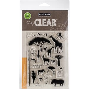 Hero Arts: Safari Wild About You Clear Stamps, 4x6 inch