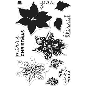 Hero Arts: Color Layering Poinsettia Clear Stamps, 4x6 inch