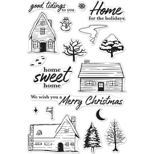 Hero Arts: Home For The Holidays Clear Stamps, 4x6 inch