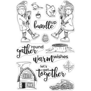 Hero Arts: Bundle Up Clear Stamps, 4x6 inch