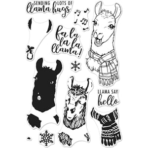 Hero Arts: Fa La Llama Clear Stamps, 4x6 inch