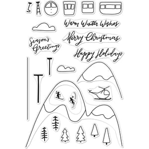 Hero Arts: Ski Holiday Clear Stamps, 4x6 inch