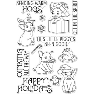 Hero Arts: Sending Warm Hogs Clear Stamps, 4x6 inch