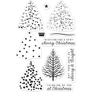 Hero Arts: Color Layering Christmas Tree Clear Stamps, 4x6