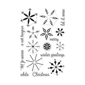 Hero Arts: Stacking Snowflakes Clear Stamps, 4x6 inch
