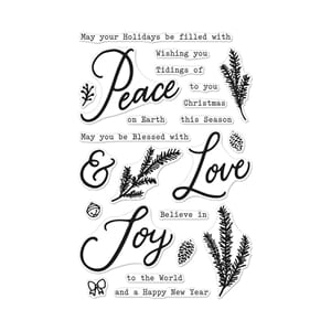 Hero Arts: Peace, Love & Joy Clear Stamps, 4x6 inch
