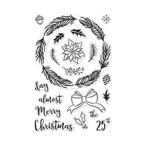 Hero Arts: Winter Wreath Clear Stamps, 4x6 inch