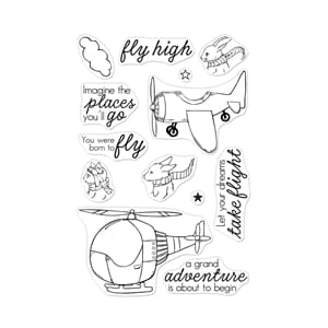 Hero Arts: Fly High Animals Clear Stamps