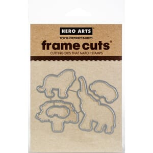 Hero Arts: Safari Huge Thanks Frame Cut Dies