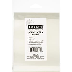 Hero Arts: Acetete Card Panels, 20/Pkg