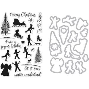 Hero Arts: Winter Silhouettes - Clear Stamp & Die Combo