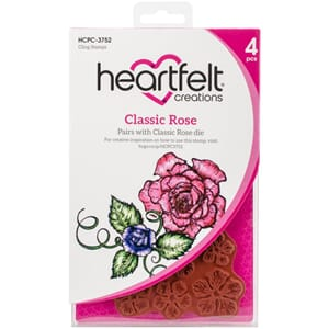 Heartfelt: Classic Rose Cling Rubber Stamp Set