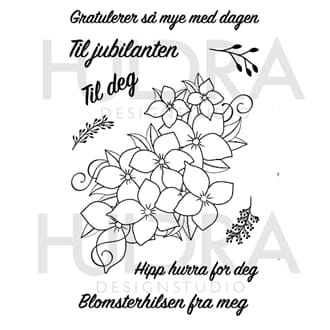 Huldra - Blomster Clear stamps, str 4x6 inch
