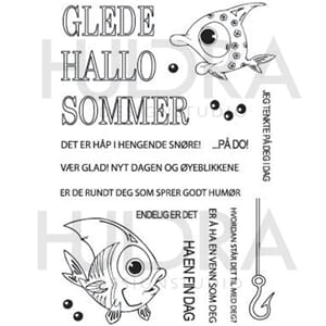 Huldra - Sommer Clear stamps, str 4x6 inch