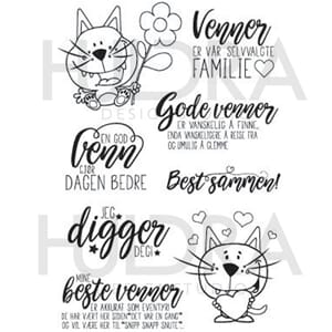 Huldra - Venner 2 Clear stamps, str 4x6 inch