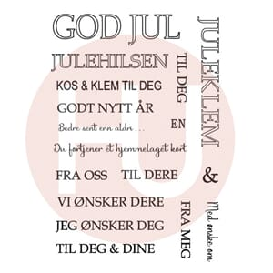 Huldra - Fleksi JUL Clear stamps, str 4x6 inch