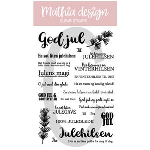 Mathia design - God Jul tekster,str 10x15cm