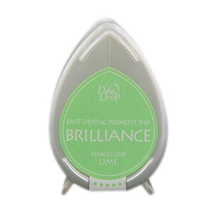 Brilliance Dew Drop - Pearlescent Lime Pigment Ink Pad