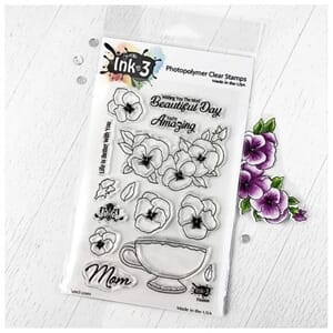 Inkon3: Pansies Clear Stamps, 4x6 inch