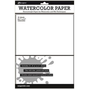 Inkssentials: White Watercolor Paper, 8.5x11 inch, 10/Pkg