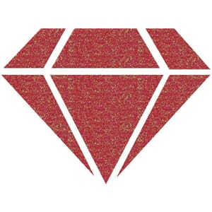 Izink: Red 24 Carats Diamond Glitter Paint, 80 ml
