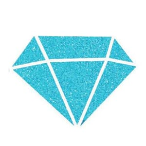 Izink: Carribean Blue Diamond Glitter Paint, 80 ml