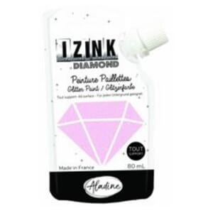 Izink: Pastel Pink Diamond Glitter Paint, 80 ml