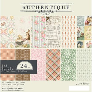 Authentique: Jubilee Double-Sided Cardstock Pad, 6x6, 24/Pkg