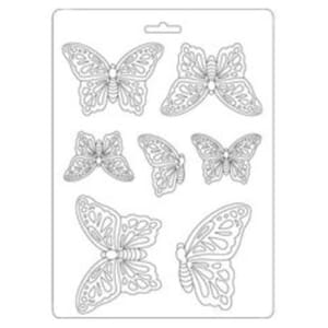Stamperia: Soft Mould A5 Butterflies, 1 stk